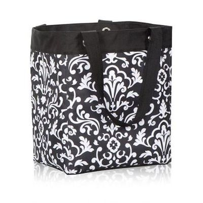 New Thirty One 31 gifts essential storage Utility tote Bag in Black Parisian Pop
