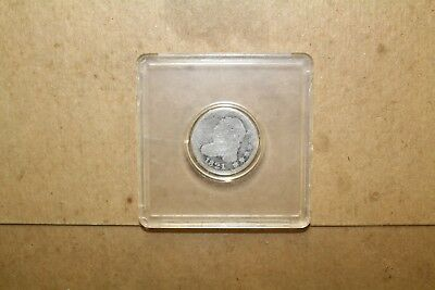 1821 Capped Bust Dime Date visible and shield stripes almost About Good