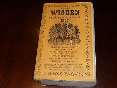 1947 WISDEN Soft cover Edition in highly collectible condition.