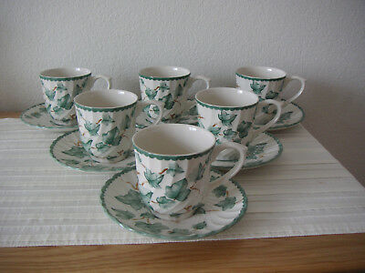 Bhs    ****    Country  Vine    ****    6  Cups  &  Saucers   ****    Mint