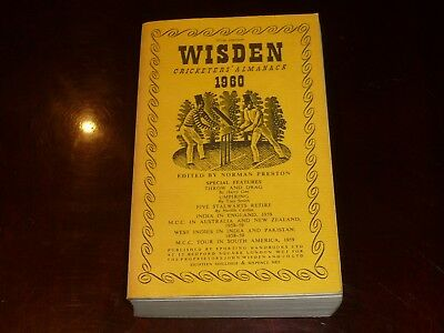 1960 WISDEN soft cover Edition in highly collectible condition.