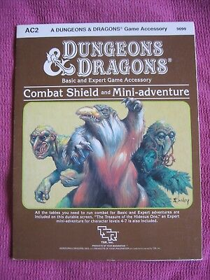 AC2 Dungeons & Dragons Combat Shield and Mini Adventure 9099 by David Cook - TSR