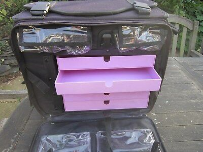 Crop In Style Stamp Store Rolling Craft Case Black with pink trays from USA