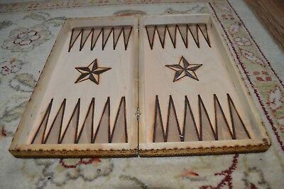 wooden chess board and backgammon