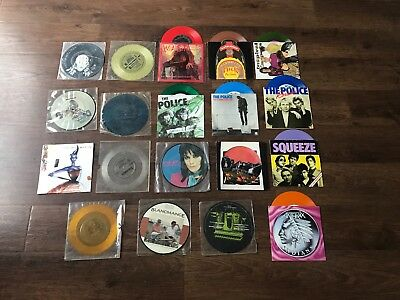 JOB LOT OF COLLECTION OF 153 PUNK INDIE 70s 80s 90s 7 INCH SINGLES