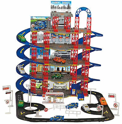 Kids City Car Parking Toy Boys Truck Vehicle Auto 5 Levels Garage Play Set Gift