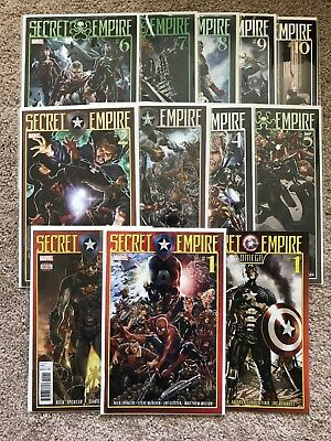 SECRET EMPIRE - Issues 1-10 + 0 and Omega - Nick Spencer 2017 Marvel Hydra