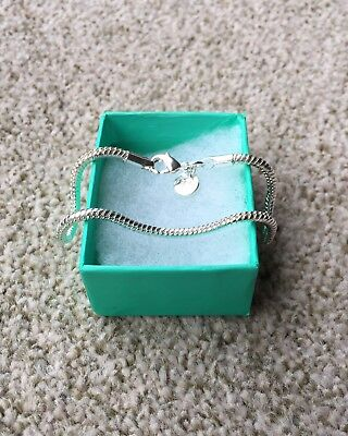 925 Sterling Silver Snake Bracelet, Rope Chain 3mm thick, 8 inches! UK Seller!