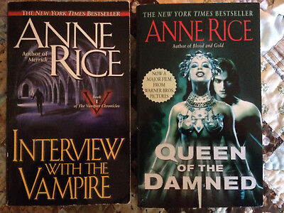 2 Paperbacks By Anne Rice: Interview With A Vampire & Queen Of The Damned.
