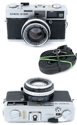 Olympus 35-SP 35SP rangefinder camera with Zuiko 42mm 1/1.7 SOLD AS IS
