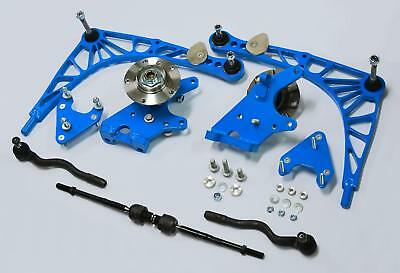CLM BMW e36 e30 e46 Full Lock Kit Steering Angle Drift 70* Hubs, arms bdc