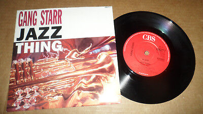 Gang Starr 'jazz Thing' 656377 7 Cbs Records 1990 Uk Issue