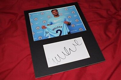Genuine Hand Signed Kyle Walker Manchester City Photo Mount - PROOF