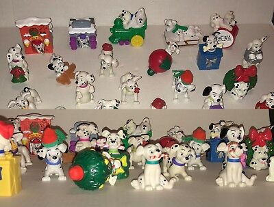 Disney Christmas 101 Dalmations Figures Dogs Puppies VINTAGE Rare Lot Of 27