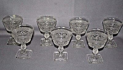 """VTG Imperial Glass Ohio CAPE COD CLEAR (set of 7) Champagne Sherbet Glass 5"""""""