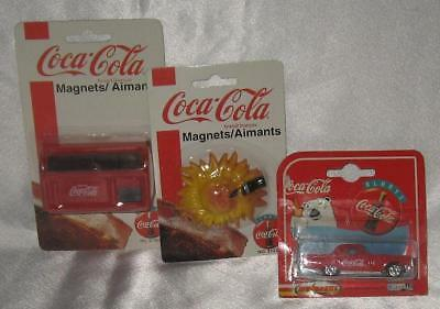 Vintage Coca-Cola 2 Magnets and Car New