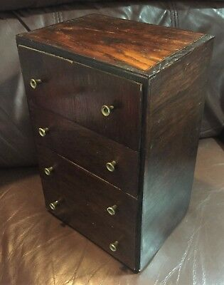 "MINIATURE CHEST of DRAWERS, 5 Drawers, Apprentice Piece 12""h X 8""w x 6""d"