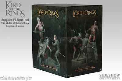 the Lord of The Rings the wall of Helms deep Aragorn Uruk-hai PolyStone diorama