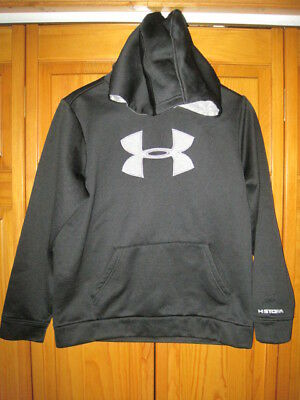 Under Armour Cold Gear Strom hoodie sweatshirt kids boys YLG black gray fall