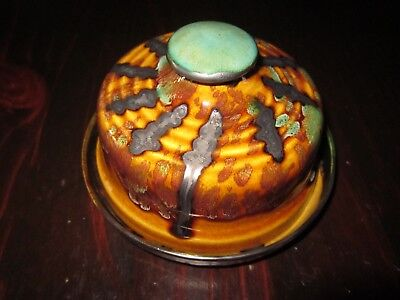 Ross Taylor Irish Studio Pottery Cheese Dish With Lid Dated 1991.