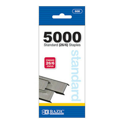 5000 Count Standard Staples (26/6) Chisel Point School or Office needs - US SHIP