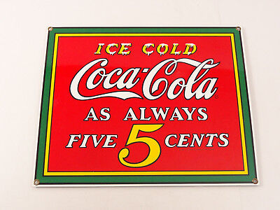 Ande Rooney Porcelain Advertising Sign Ice Cold Coca-Cola