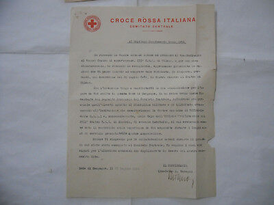 Ww2 Documento Croce Rossa Italiana Red Cross-1