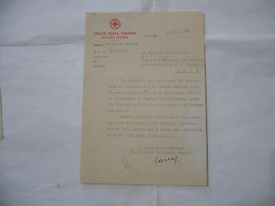 Ww2 Documento Croce Rossa Italiana Red Cross-7