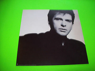"""PETER GABRIEL So 1986 Promo Only Vintage Original FLAT 2- SIDED 12""""x12"""" Not A LP"""