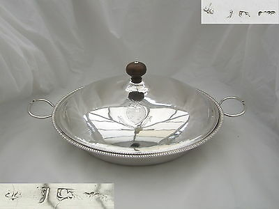 Rare George Iii Hm Sterling Silver Covered Serving Dish 1768