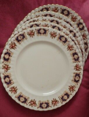 Royal Imperial bone china dinner plates X5