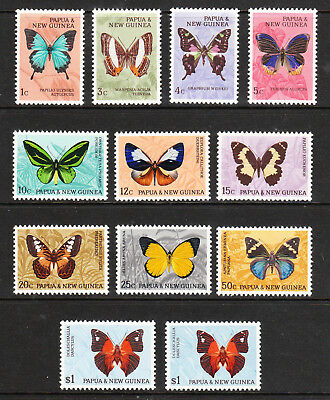 PAPUA NEW GUINEA. 1966. EII BUTTERFLY DEFINITIVE SET to $1(both). MNH. Sg.82-91a