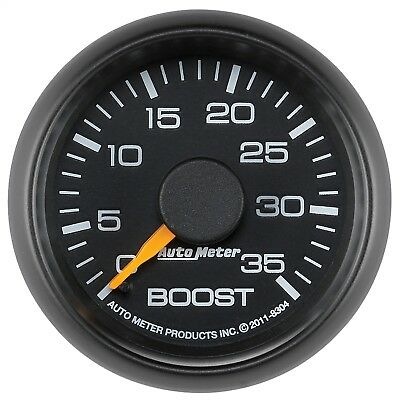 """AutoMeter 8304 Chevy Factory Match Mechanical Boost Gauge 2 1/16"""" 0-35 psi"""