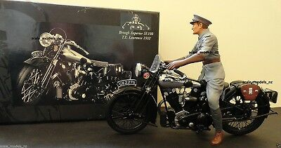 MINICHAMPS 1:12 BROUGH SUPERIOR SS 100 WITH LAWRENCE FIGURE - UNIQUE on eBay !!!