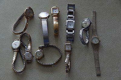 Collection of old metal watches