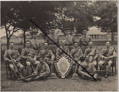 WW1 Military Photograph of Madras, India, Volunteer Guard 1917: Men with Rifles