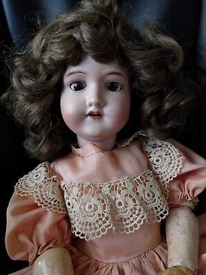 Antique Morimura Brothers MB Japan Bisque Head Doll 20""