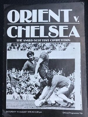 Orient V Chelsea Programme. Anglo Scottish Competition 1976