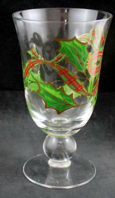 Lenox Crystal Holiday Plaid Ribbon Iced Tea Glass GREAT CONDITION