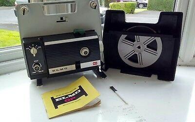 ELMO GP-E zoom super 8 projector Cinema film projector with INSTRUCTIONS & lead