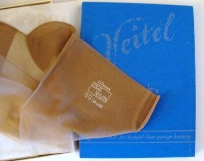 4 Pairs Of Authentic Veitel Fully Fashioned Nylon Stockings