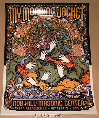 My Morning Jacket Guy Burwell San Francisco Poster Signed Numbered Art Night 1