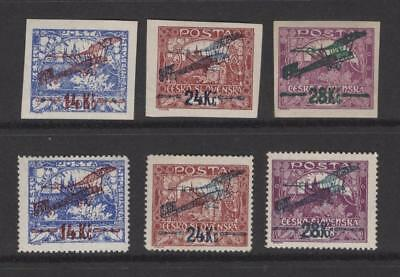 Czechoslovakia 1920 Complete Air Mail Set  - OG MLH - SC# C1-C6  Cats $191.00