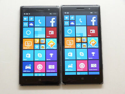 Lot of 2 Nokia Lumia 830 RM-983 AT&T Smartphones AS-IS GSM