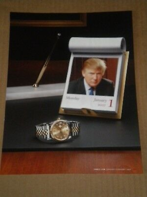2007 Donald Trump with Rolex In Ad