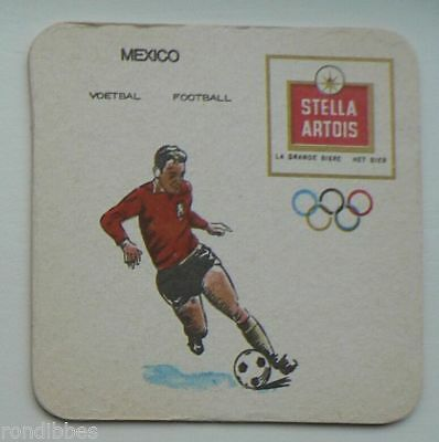 Old  Beercoaster Olympic Games  Mexico 1968, STELLA ARTOIS, Football
