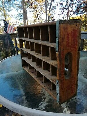 Vintage Wooden Pepsi Cola Soda Pop 24 Bottle Crate