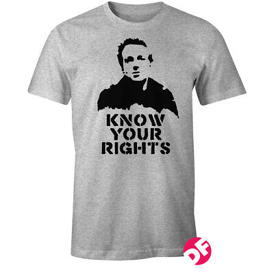 KNOW YOUR RIGHTS Joe Strummer Clash 1977 Punk Rare vintage unigue styled Tshirt