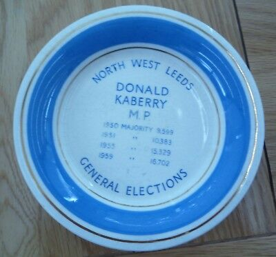 North West Leeds General Elections Dish Donald Kaberry Mp 1950, 51, 55, 59