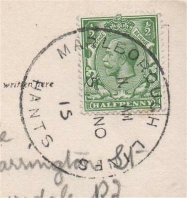 Postal History Marlborough Lines Hants Skeleton 1915 Farnborough Church